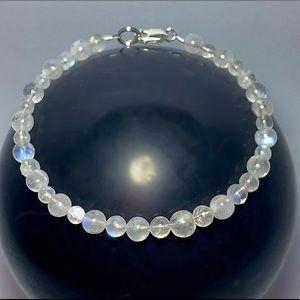 Genuine Rainbow Moonstone Bracelet!